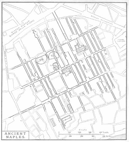 FIG. 20. NAPLES. ADAPTED FROM A PLAN OF 1865